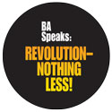 REVOLUTION—NOTHING LESS! art for                             button