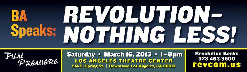 Billboard in Los Angeles for the film                           REVOLUTION—NOTHING LESS!
