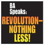 REVOLUTION—NOTHING LESS! t-shirt -                             front