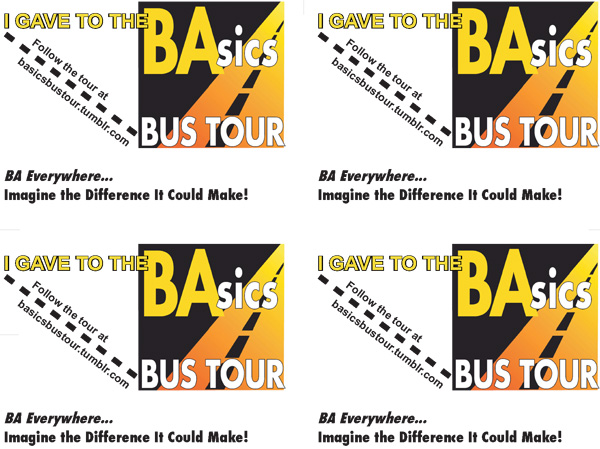 BAsics Bus Tour Card