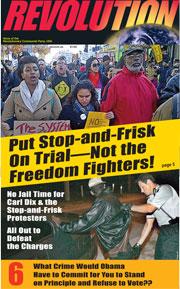 Revolution #283, October 28, 2012 - front page
