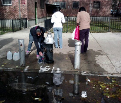 housing project residents during Sandy