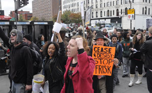 Protest against stop-and-frisk in Jamaica, Queens, New York, November 19,  2011