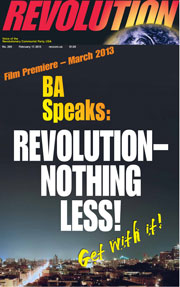 Revolution #295, February 17, 2013 - front page