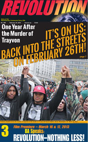 Revolution #296, February 24, 2013 - front page