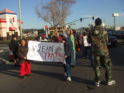 Rally on one year anniversary of Trayvon Martin murder, East Oakland