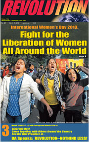 Revolution #297, March 10, 2013 - front page