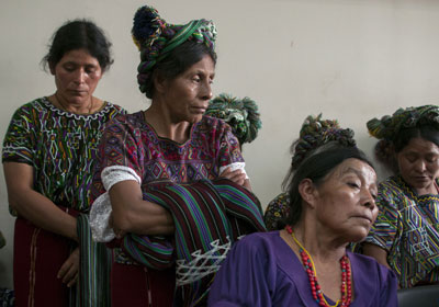 Ixil indigenous women at the trial of Guatemala's former dictator General Efraín Ríos Montt in Guatemala City, April 18, 2013.