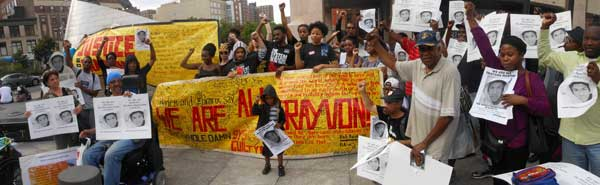 Harlem protest for Trayvon Martin