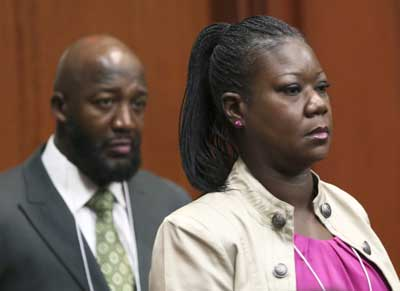 Sybrina Fulton and Tracy Martin, Trayvon Martin's parents
