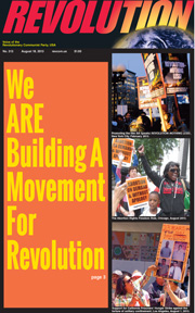 Revolution #313, August 18, 2013 - front page
