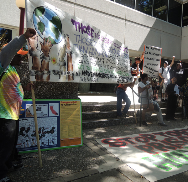 Protest in front of the CDCR in Sacramento, July 26, 2013