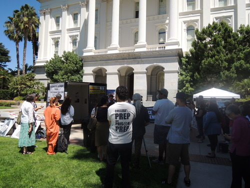 California State Capitol Prisoners Hunger Strike Supporters