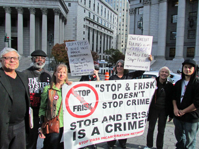 Press Conference November 1, 2013 to protest federal appeals court ruling on stop-and-frisk.