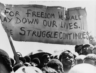 For Freedom We Will Lay Down Our Lives - South African struggle against apartheid