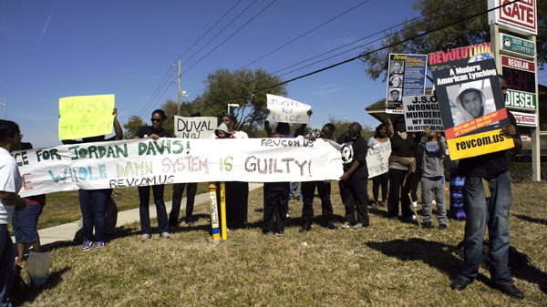 Protest in Jacksonville, FL against Jordan Davis mistrial, February 2014