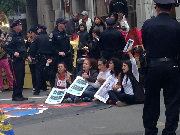 San Francisco April 5, 2014 march againt deportations