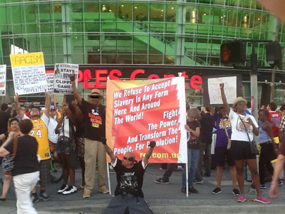 Staples Center April 29, protest of Sterling