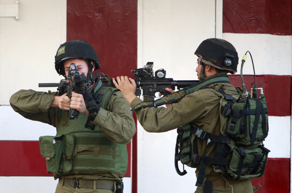 Israeli soldiers in the Palestinian City of Jenin on the West Bank, July 2, 2014. PHOTO: AP