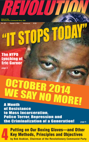 Revolution #347, August 3, 2014 - front page