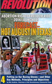 Revolution #348, August 10, 2014 - front page