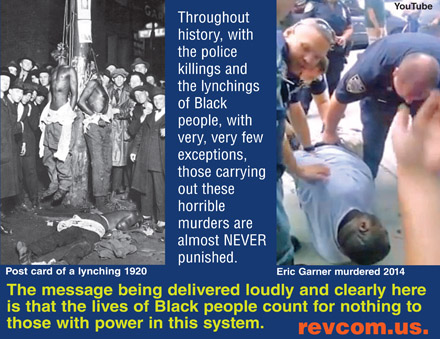 The Lives of Black People Count for Nothing to Those with Power in this System