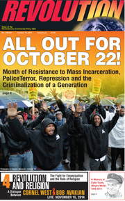 Revolution #357, October 13, 2014 - front page