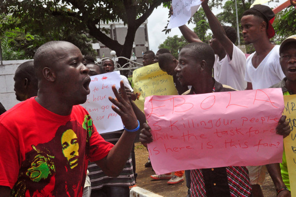 Protest at Liberian House of Representatives, September 23