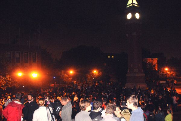 Occupying center of St. Louis University, Sunday Night, Oct. 12
