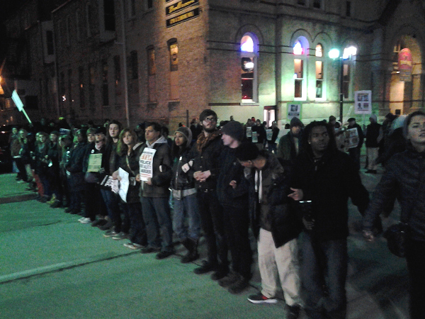 Protest against the official decision not to charge the cop who killed Dontre Hamilton, Milwaukee, December 23