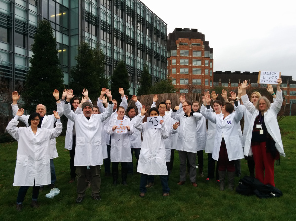 "UW scientists say ""Hands Up, Don't Shoot"""