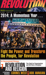 Revolution #368, January 5, 2015 - front page