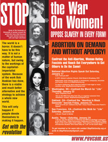 Stop War on Women Poster-Events