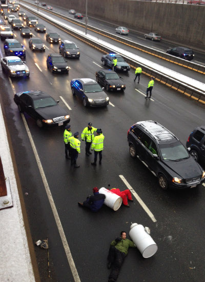 Boston, shutting down I-93