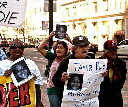 Tamir Rice rally, Oakland, February 22.