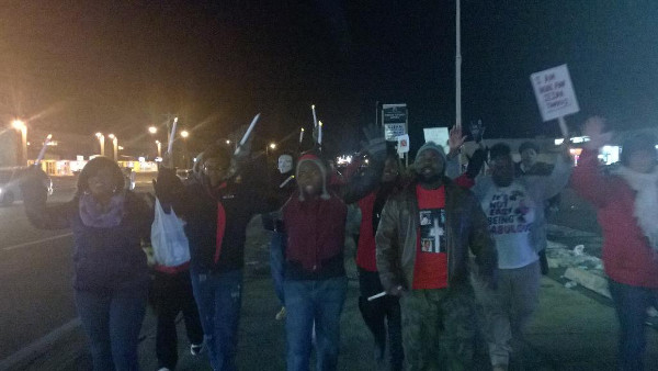 Candelight march, W. Florissant Ave., Ferguson.