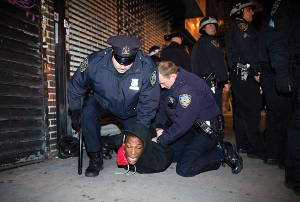 2013: Police attack protest against cop murder of Kimani Gray in Brooklyn, NY.