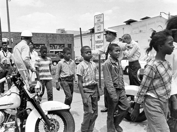 May 1963: Birmingham school kids are taken to jail for protesting discrimination against Black people.