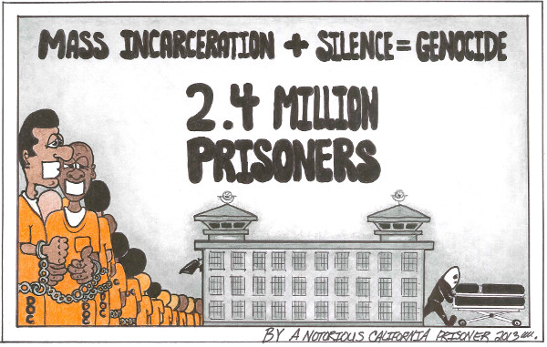 Artwork: Mass Incarceration + Silence = Genocide