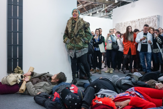 Protest at 2015 Armory Art Show