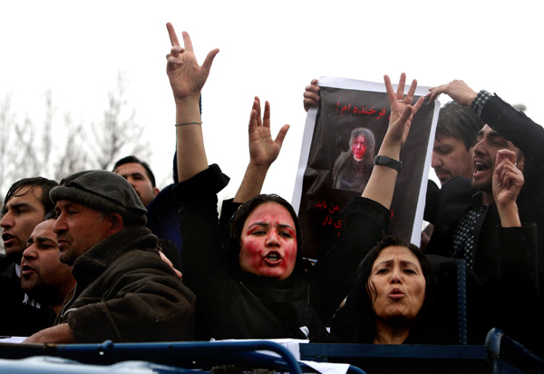 Protest of murder of Farkhunda, Kabul, March 24