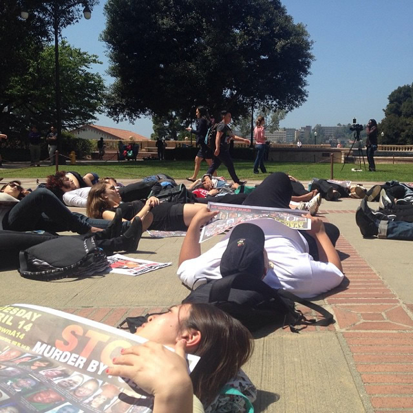 Die-in at UCLA