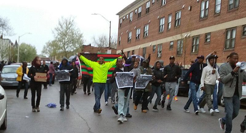 Baltimore April 22, 6 pm, protests against the murder of Freddie Gray
