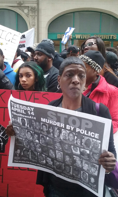 Marchers in Baltimore April 23, 2015
