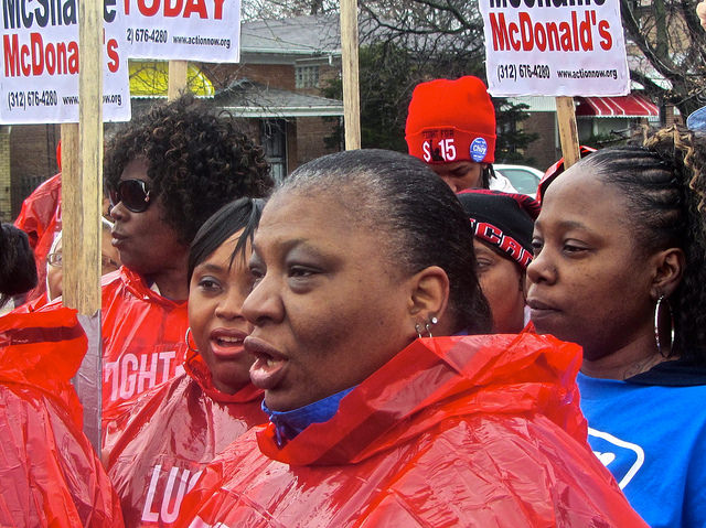 Chicago, April 15, minimum wage protest
