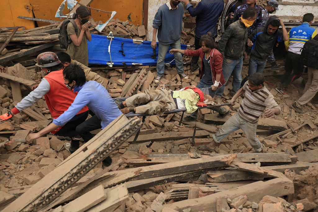 Fighting to save survivors of the Nepal Earthquake 4/29/15 Photo: UN