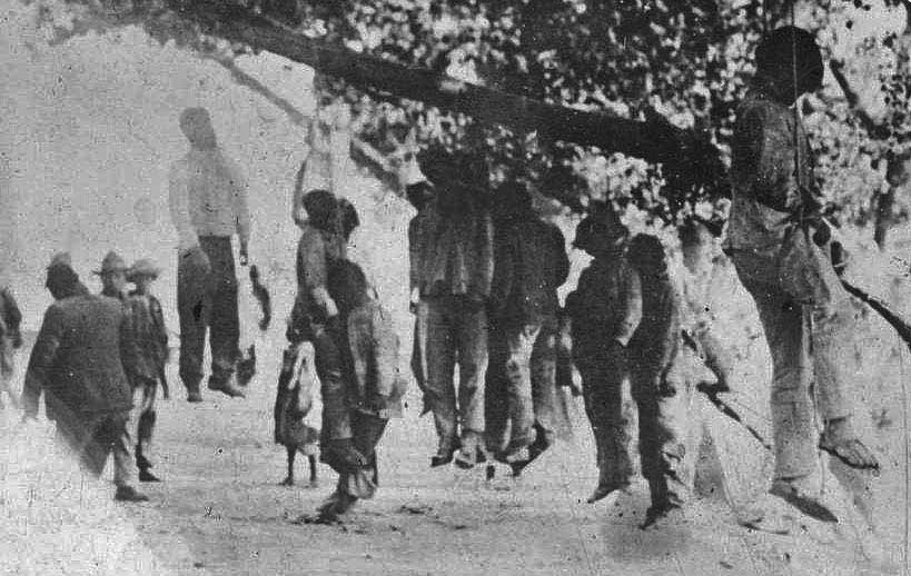 Seven Mexican shepherds were hanged by white vigilantes near Corpus Christi, Texas to drive Mexican landowners from the land, November 1873.