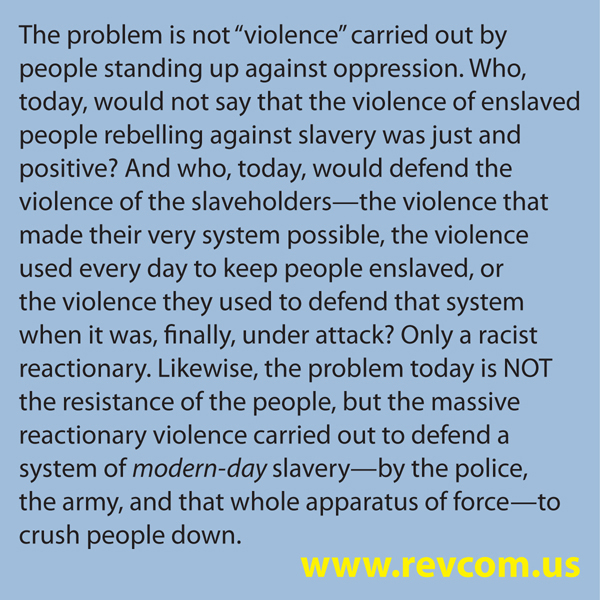The problem is not violence