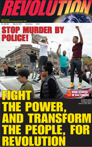 Revolution #387, May 18, 2015 - front page