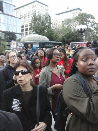 People gather at Union Square, New York City, as part of SayHerName nationwide protests against police murder of Black women.